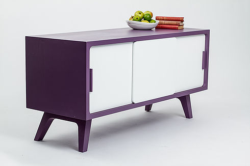 Painted sideboard with 3 doors