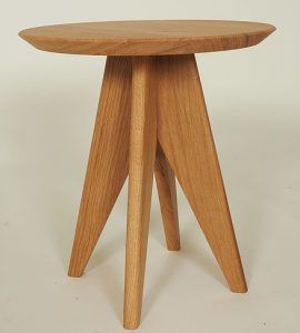 Side table made from oak